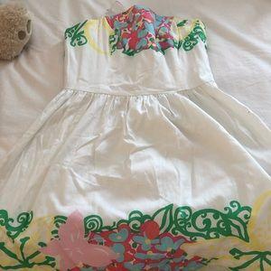 Lilly Pulitzer strapless white mini dress